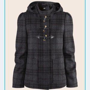 H&M Wool toggle coat